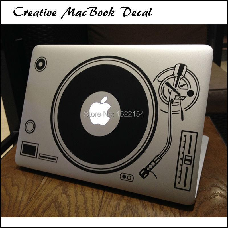 DJ Technics Deck Record Player Laptop Sticker for Apple Macbook Decal Air Pro Retina 11