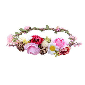 Autumn Hoop Accessories Hair Accessories cb5feb1b7314637725a2e7: Khaki|Light Blue|Pink