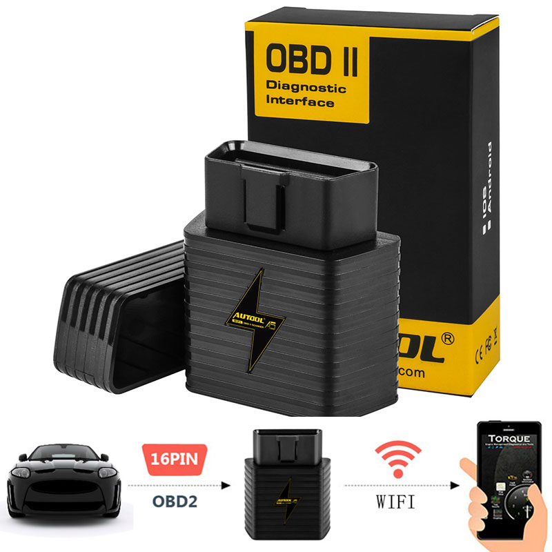 A5 OBD2 Adaptor Auto Scanner WIFI Bluetooth ELM327 1.5V Car OBDII For Android IOS Engine Code Reader Diagnostic Scanning Tool