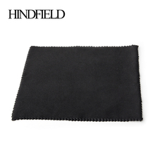 HINDFIELD 100 шт./лот, солнцезащитные очки черного цвета, салфетка из микрофибры для очистки очков, 15 см x 15 см, салфетка для очистки очков