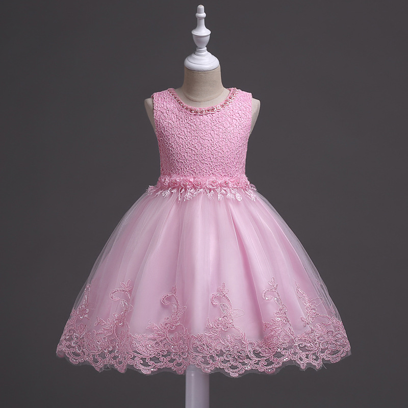 3-10T Toddler Girls Baby Girl Princess tutu Dress Flower Lace Princess Children Fashion Dress For Wedding Party Prom Dresses santa baby girl christmas outfit set tutu children girls 3 piece romper tutu skirt toddler tutus party dress infant clothing