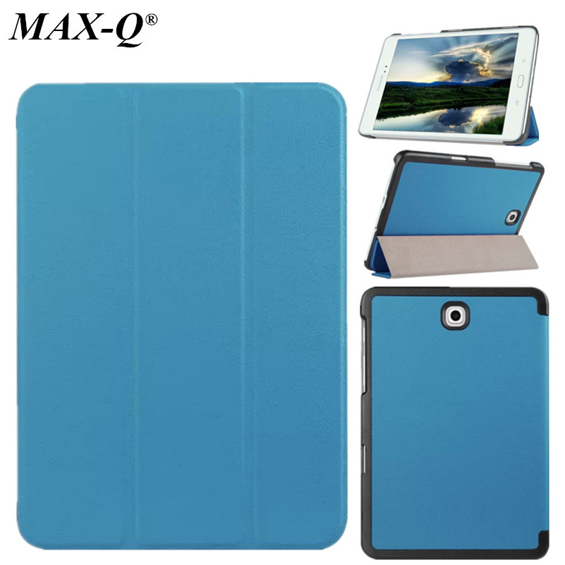 MAX-Q Cover for Samsung Galaxy Tab S2 8.0 T715 T710 Smart Case capa funda Retina Display Original PU Leather Tablet Stand Cases