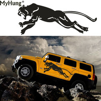 180cm*48cm For Jeep Car Styling Accessories Car Body Decals Sticker Car Scratch Cover Creative Wild Running Panther Hunting