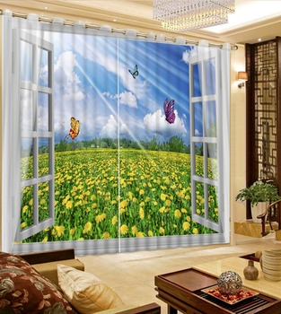 Luxury Blackout 3D Window Curtains For Living Room Bedroom Drapes cortinas Rideaux Window curtains