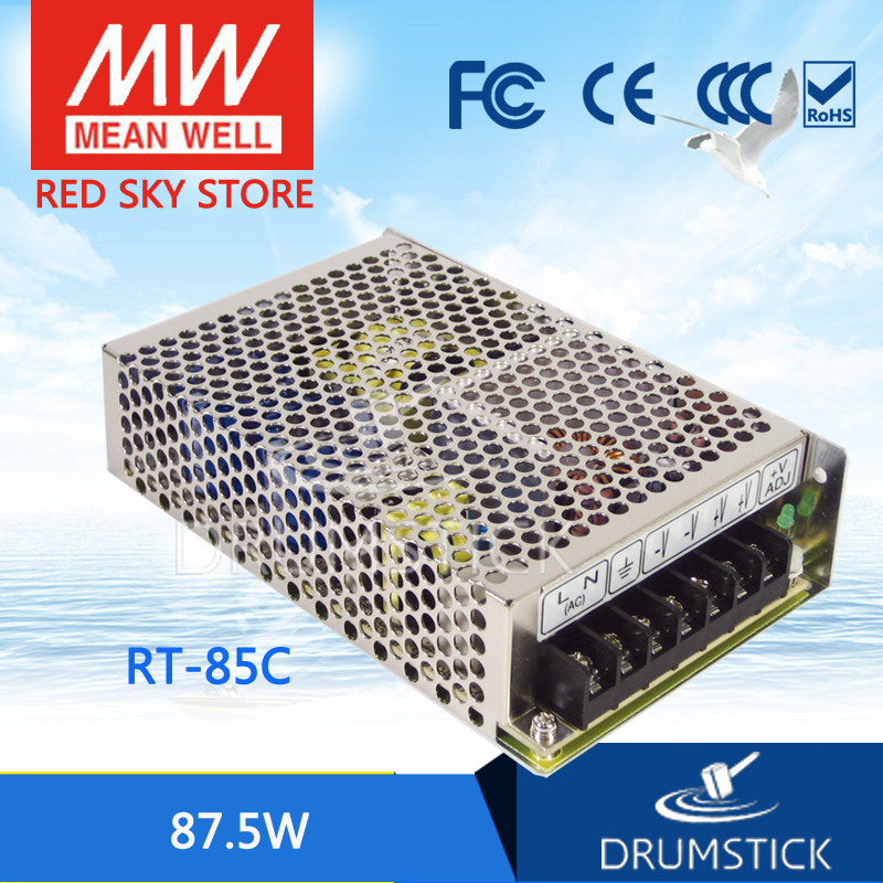 все цены на hot-selling MEAN WELL RT-85C meanwell RT-85 87.5W Triple Output Switching Power Supply онлайн