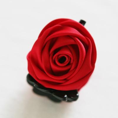 Розовые цветы черные пластиковые зубы заколки для волос изысканный элегантный головной убор для женщин девушек аксессуары для волос - Цвет: 9100