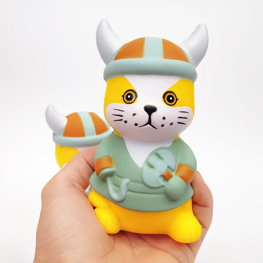 Animales Pirate Cat Super Slow Rising Kids Fun Toy Stress Reliever Toy Gift Squishies Cute Kawaii Slow Rising Scented Toy W527