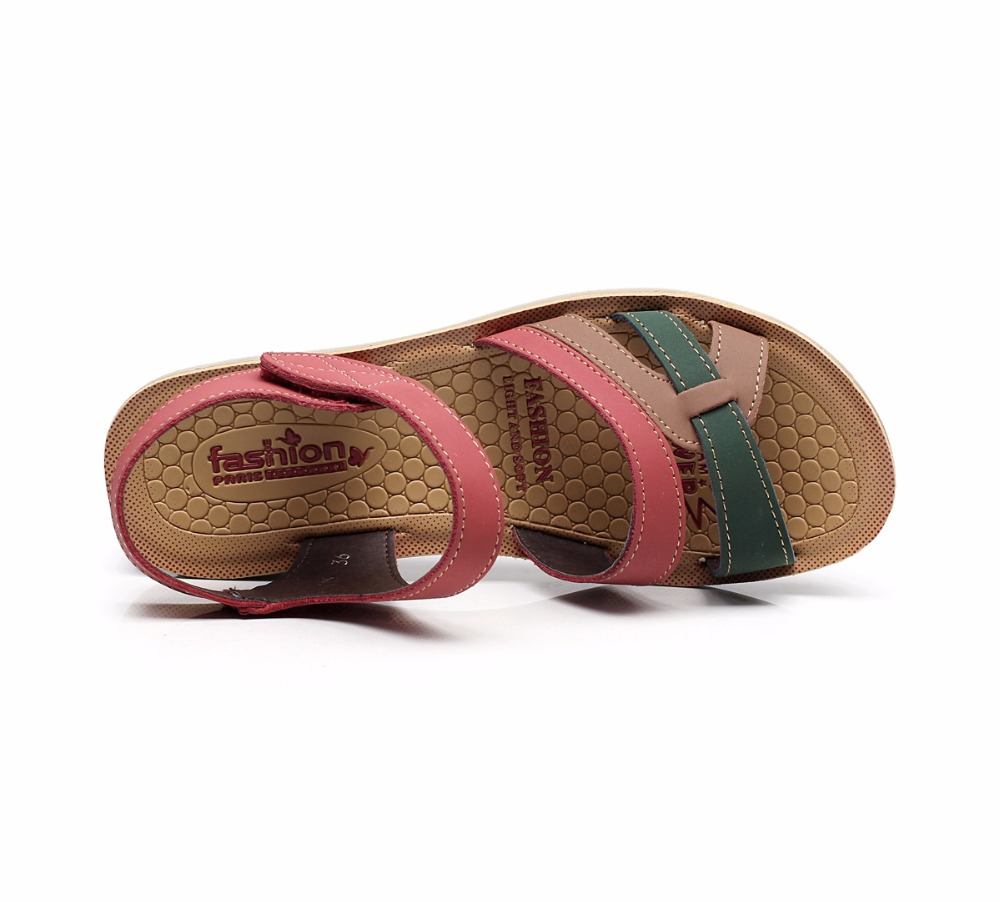 Image 5 - GKTINOO/летние женские сандалии; удобные женские туфли; пляжная обувь; сандалии гладиаторы; женские повседневные сандалии на плоской подошве; модная обувьБоссоножки и сандалии   -