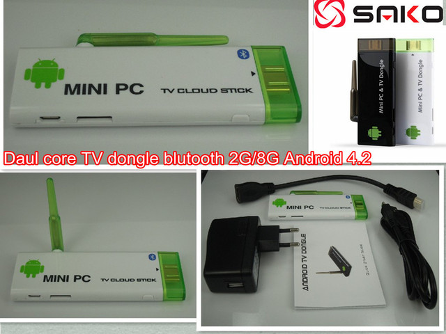 Free shipping CX-803 II Android TV Stick With Bluetooth 2GB RAM 8GB ROM RK3066 Dual Core Android 4.2 TV BOX  WIFI Antenna