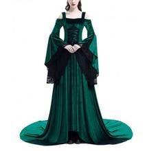 Vintage Renaissance Princess Gothic Dress Costume Medieval Gown 1970s Long Dress