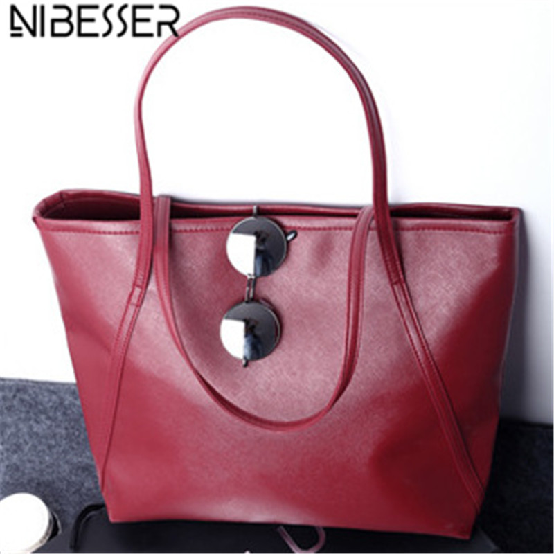 NIBESSER Fashion Women Shoulder Bags Shopper Bag Large Capacity Casual Tote Fashion Handbags for Women 2017 Lady bolsas feminina 2017 new classic casual patchwork large tote lady split leather handbags popular women fashion shoulder bags bolsas qn029 page 1