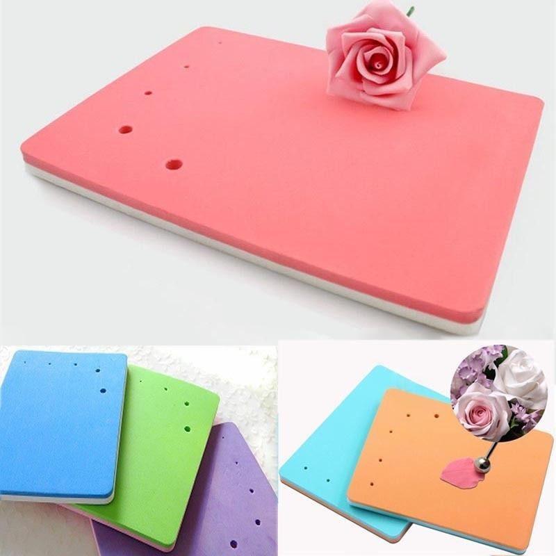 2Pcs Fondant Cake Foam Pad Sponge Sugarcraft Mat Flower Modelling Tools Decor