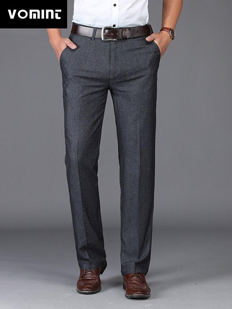 100% Wahr Vomint 2019 Neue Mode Mens Casual Anzug Hosen Elastische Dünne Gerade Hosen Anzug Formale Business Qualität Hose Männlichen Ms9801