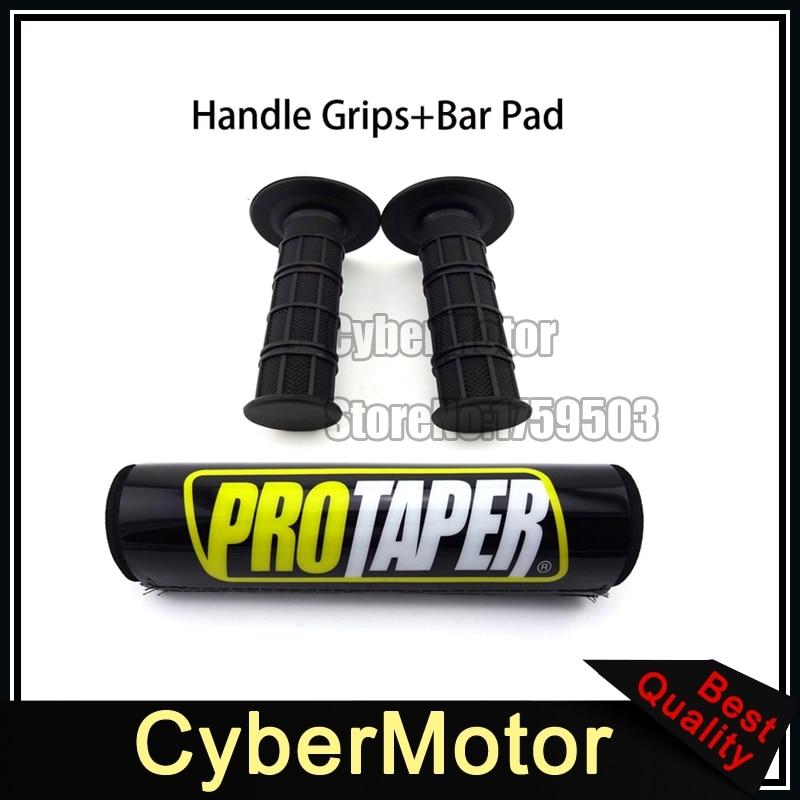 Black Rubber Throttle Handle Grips Round Handlebar Pad Cushion For Protaper Motorcycle Pit Motor Dirt Bike Motocross XR CRF KLX