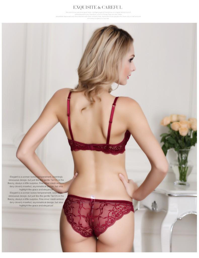 Newest Women Lingerie Sexy Lace Bra Set Transparent Sexy Push Up Bra Women Underwear Sexy Bra&Panty Sets 27