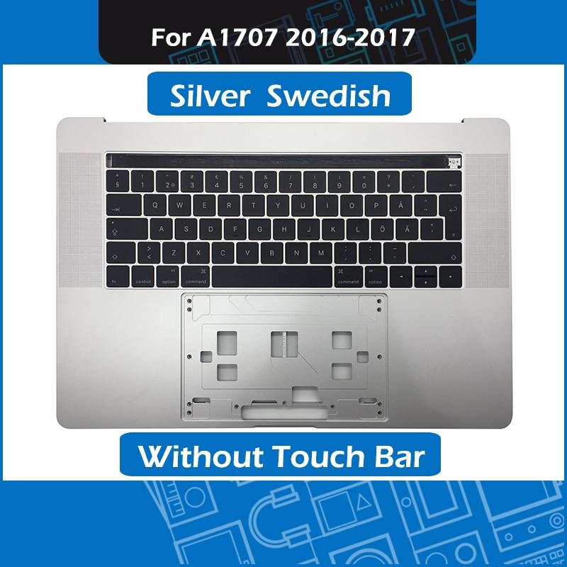 Серебряный A1707 Топ чехол + SE шведская клавиатура для Macbook Pro retina 15 Touch Bar A1707 ладоней Замена 2016 2017 год