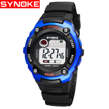 2019 Fashion Waterproof Children Kids Boy Watches Digital LED Quartz Alarm Date Sports Electronic Quartz Wrist Watch Child