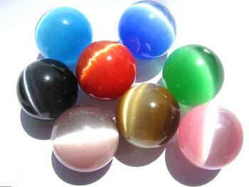 Last batch-- 30pcs WHITE CATS EYE Sphere - White Cat's Eye Orb Gemstone Sphere - Metaphysical Crystals Meditation Stone 18-30mm