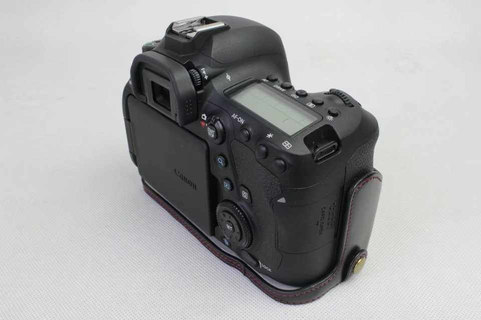 Новый чехол для камеры из искусственной кожи, сумка для камеры Canon 6D Mark II 6D II, нижняя крышка для камеры, Съемная батарея