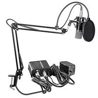 Neewer NW 700 Professional Condenser Microphone&Scissor Arm Stand+XLR Cable+Mounting Clamp&Pop Filter&48V Phantom Power Supply