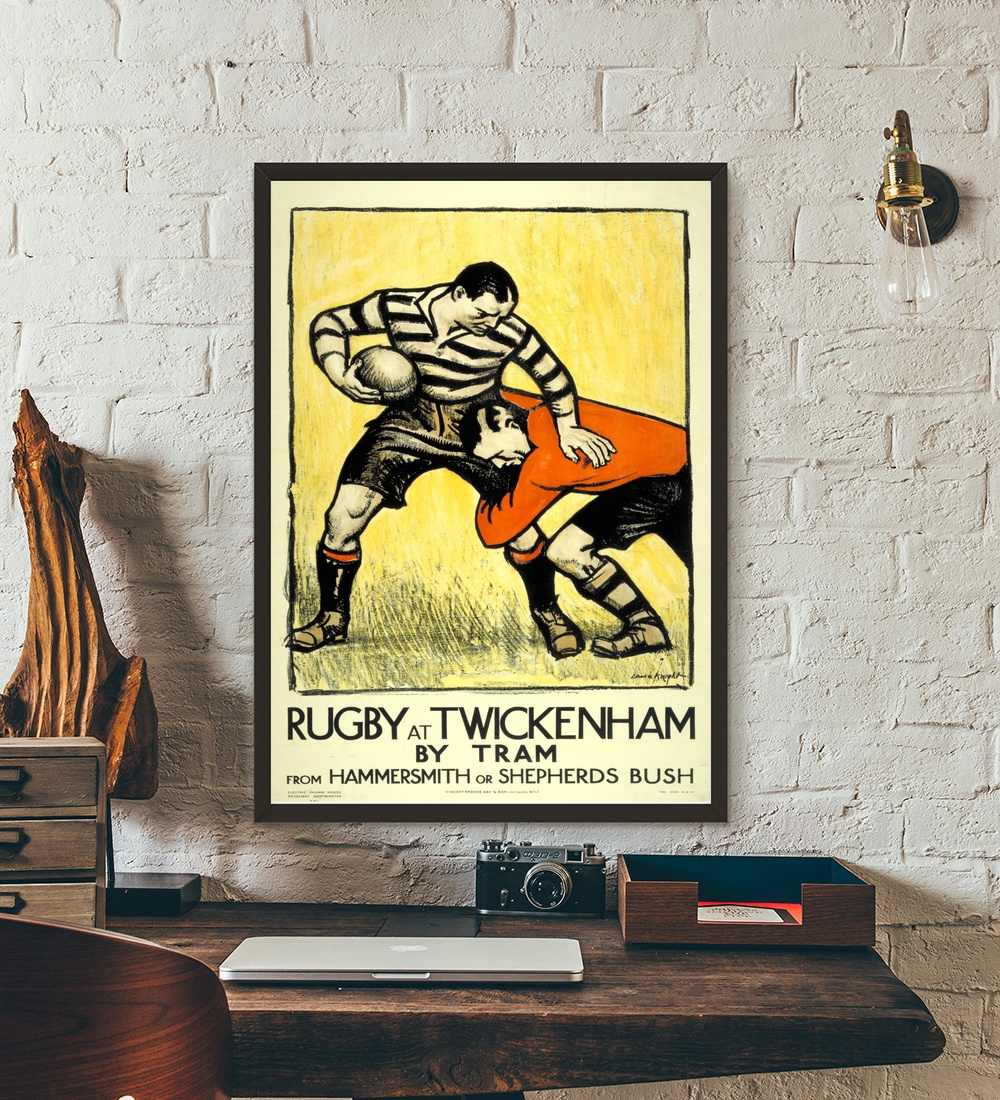 Rugby at twickenham vintage movie wall art paint wall decor canvas prints canvas art poster oil