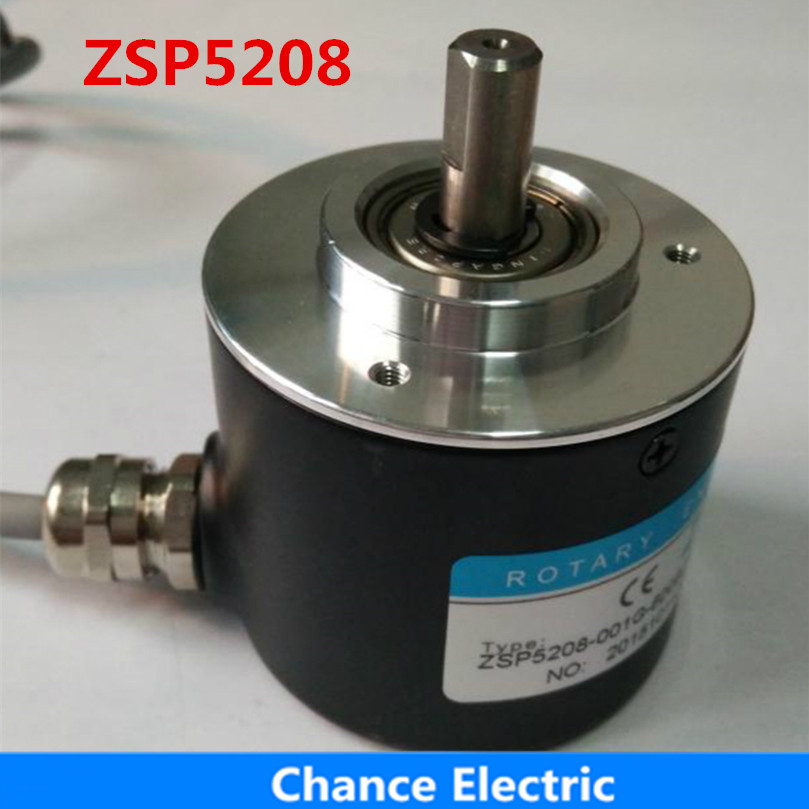 ZSP5208 Incremental Photoelectric 10 20 30 40 60 100 360 600 1000 Pulse Rotary Encoder ABZ Three-phase 5-24V