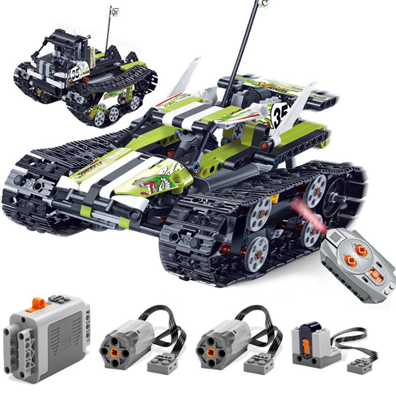 2 In 1 Stunt Racer Car Legoing Technic Model Building Blocks 480 Piece Bricks Boy Birthday Gift Remote Control Toys For Children