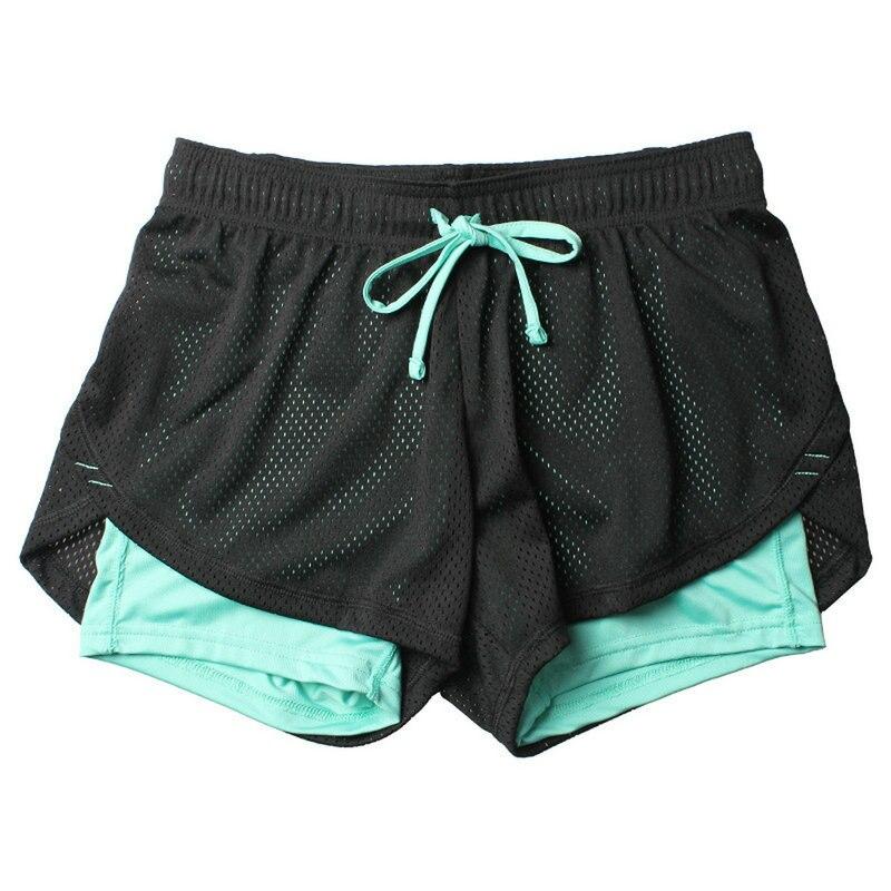 2 en 1 lulu Unisex Yoga de verano malla transpirable Ladie chica pantalones cortos para correr atléticos Deporte Fitness ropa jogging
