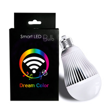AC85-240V 9W WIFI LED Bulb RGBW LED Light Colorful Dimmable Night Light Support IOS/Android APP Control E27 LED Lamp