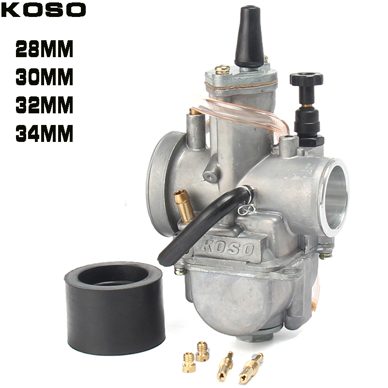 2T 4T Universal Koso Motorcycle Carburetor Carburador 28 30 32 34mm With Power Jet For Racing