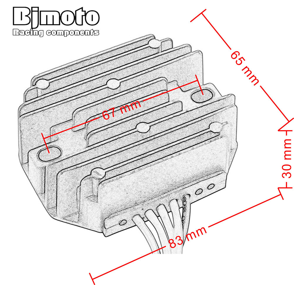 Bjmoto Motorcycle Metal Voltage Regulator Rectifier Motorbike For 99 Ktm Wiring Diagram 400 450 620 Duke 640 Adventure 625 Smc 660 Rally In Ingition From