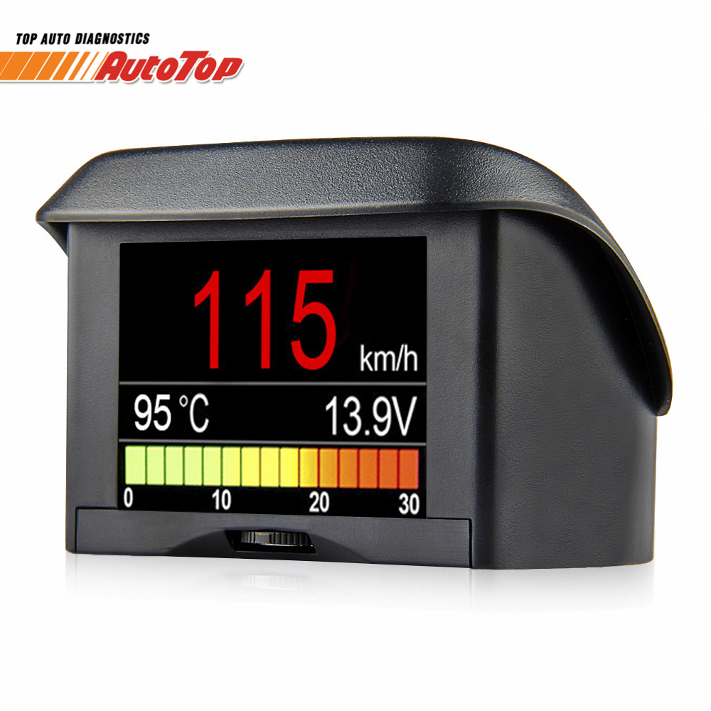 цена на Newest Auto Onboard Computer A202S Automotive Digital OBD2 Car Driving Computer Speed Meter Fuel Consumption Coolant Temp Gauge