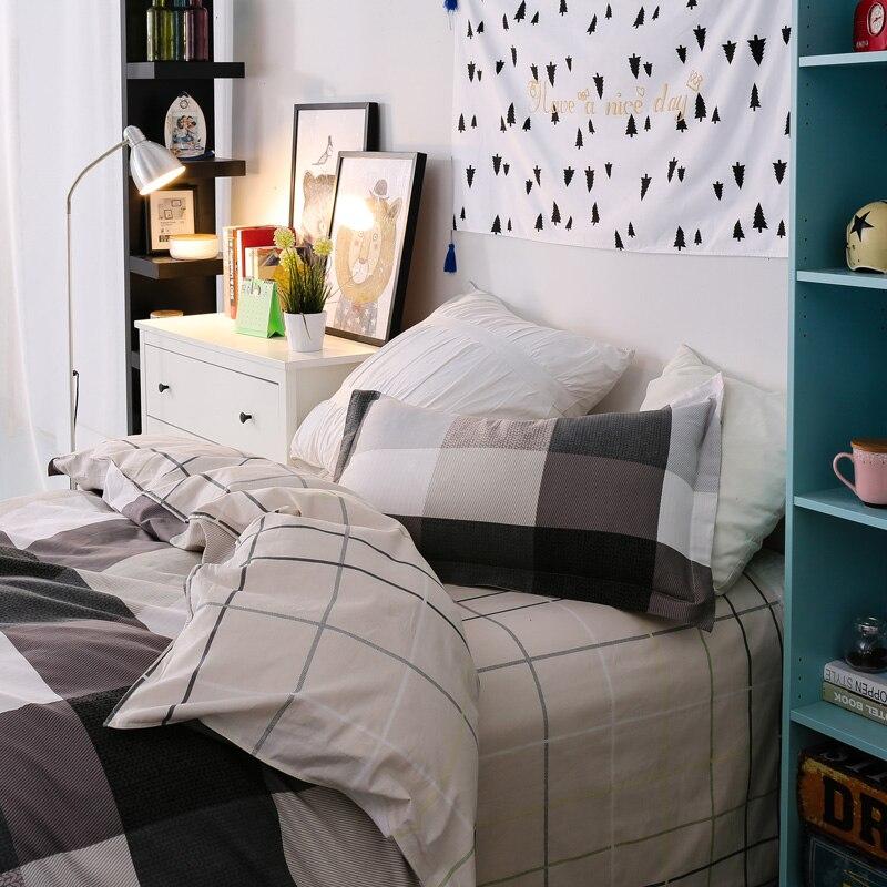 3 pçs tamanho gêmeo de alta qualidade 100% algodão moda simples impresso conjunto cama confortável conjunto capa edredão folha fronha - 6