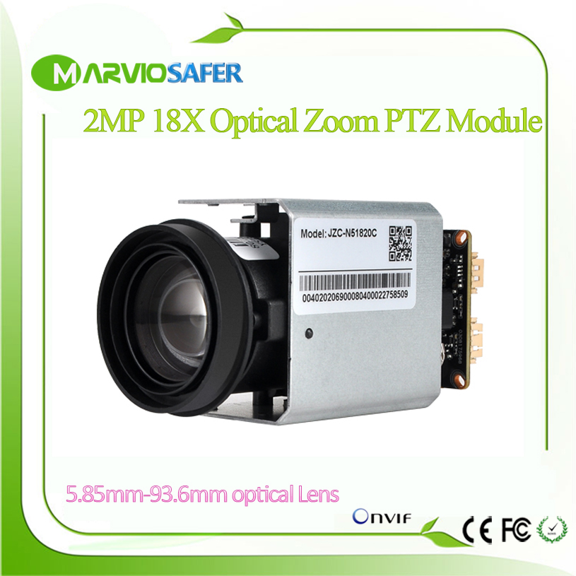 H.265 Full HD 2MP IP PTZ Network Camera Module 1080P 18X 5.85MM-93.6MM Optical Zoom Lens RS485 TTL Onvif Audio 2mp hdmi full hd broadcast 12x zoom ptz video conference camera audio with ip usb2 0 usb3 0 interface