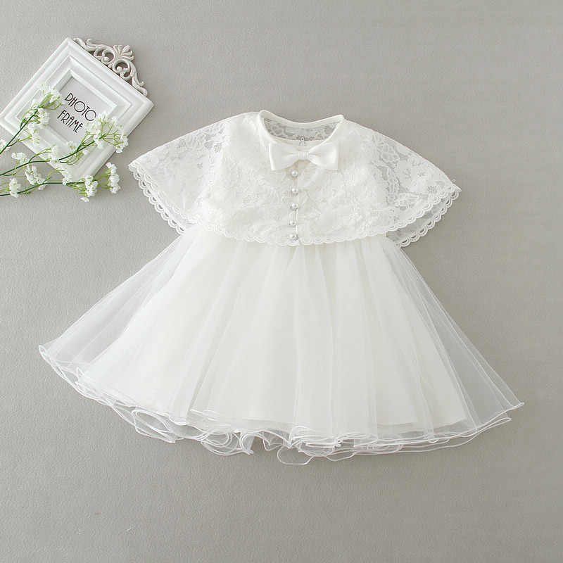 fbb6e4484 ... Newborn White Dress For Baptism Sleeveless Baby Girl Lace Christening  Gown Dress Toddler 1st Birthday Party ...
