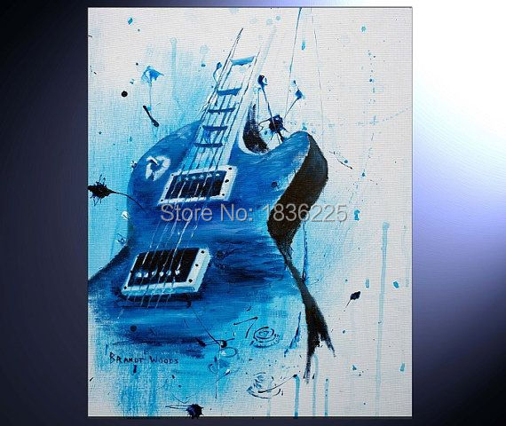 Hohe Qualität service bar definition kunstwerke malerei gitarre ölgemälde abstrakte metall abstrakte gemälde für schlafzimmer