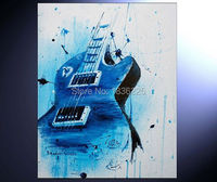 High Quality Service Bar Definition Artworks Painting Guitar Oil Painting Abstract Metal Abstract Paintings For Bedrooms