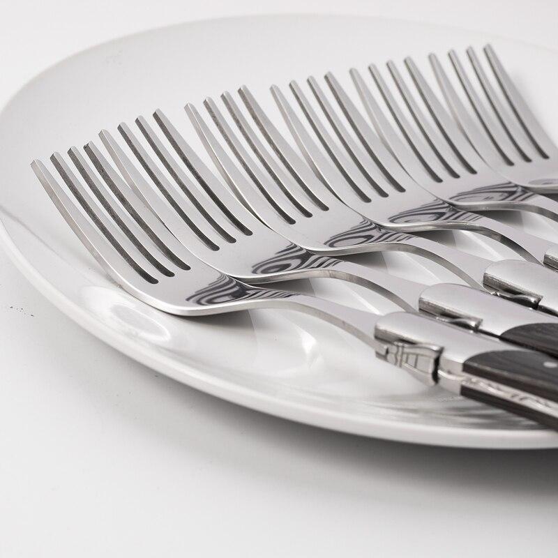 Набор столового серебра блестящие 304 Нержавеющаясталь Радуга black rose посуда Ножи вилка Совок Элегантный шик Португалии Стиль 20 шт. для 4 - 5
