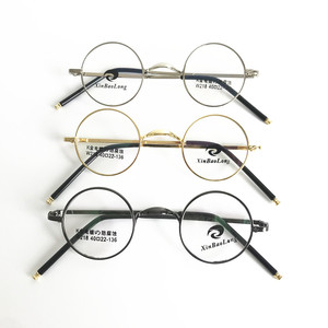 Image 1 - בציר קטן 40mm עגול משקפיים מסגרות מתכת שפה מלאה אופטי יוניסקס משקפיים