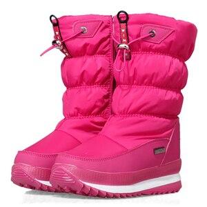 Image 3 - 2020 kış platformu kızlar çizmeler çocuk kauçuk kaymaz kar çizmeler ayakkabı kız için büyük çocuklar su geçirmez sıcak kış ayakkabı Botas