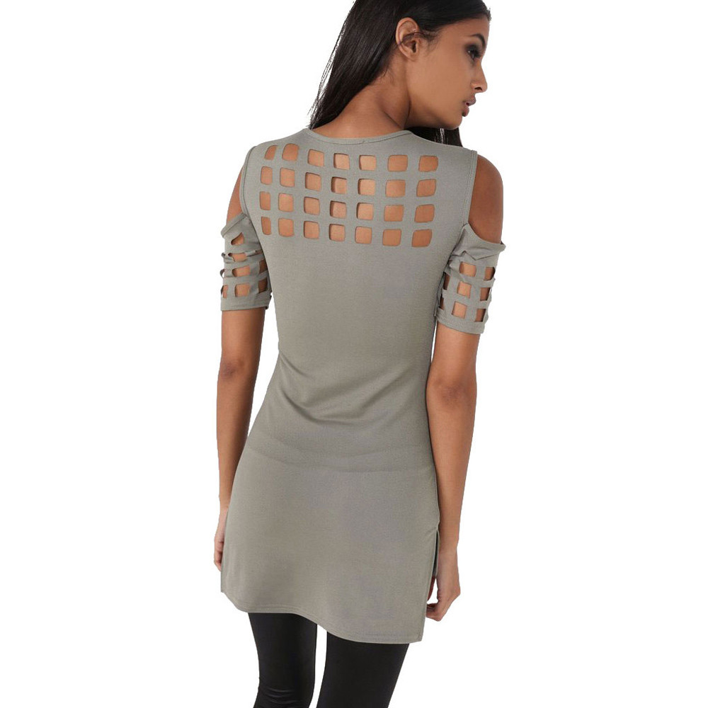 HTB1tUA6OFXXXXatXpXXq6xXFXXXu - T-shirts Women Fashion Off The Shoulder Hollow Out Short Sleeve