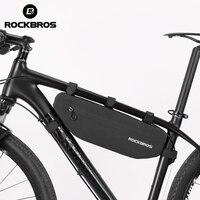 Rockbros 자전거 사이클링 가방 방수 탑 튜브 전면 프레임 가방 대용량 mtb 도로 자전거 삼각형 파니 자전거 액세서리