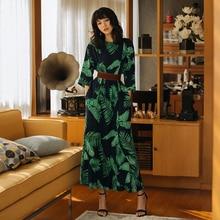 VERRAGEE women summer bohemian dress holiday print 2019 maxi vintage designer Dress green color high quality