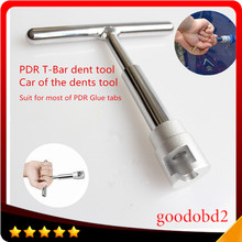 Car PDR dent T Bar tools Paintless Hail Repair T- Bar Lifter Removal tool glue work for most of PDR glue tabs pulling tab triclicks car body panel t bar paintless hail repair pdr dent lifter removal tool 5 tabs suckers tool kit hand puller pdr tools