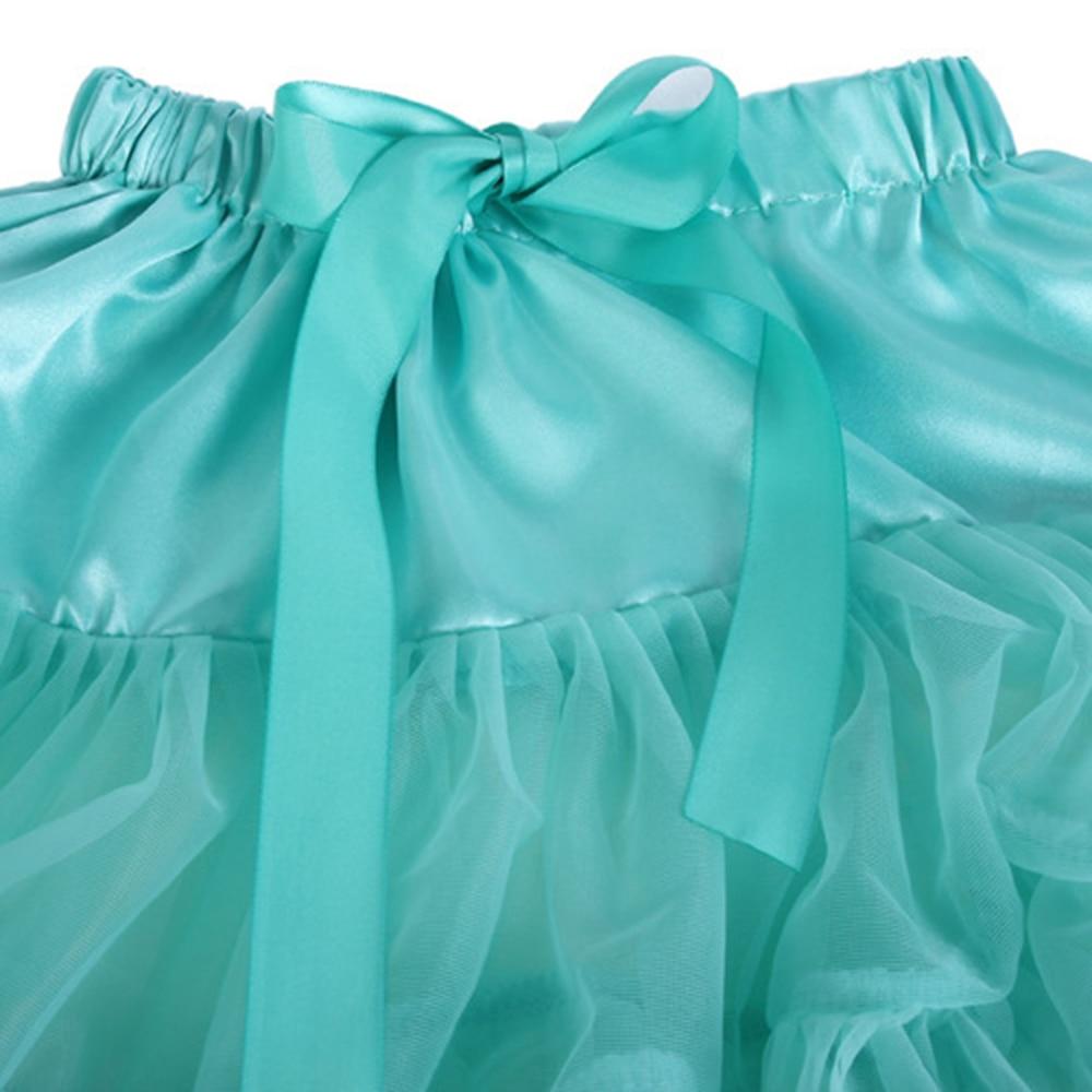 Petticoat lolita Woman Ruffle Tulle Puffy Underskirt Tutu Short Mini - Bruiloft accessoires - Foto 3