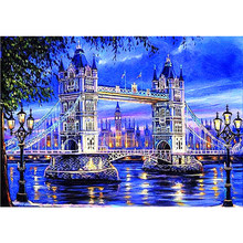 LI LOYE 5D DIY Diamond mosaic icon Diamond embroidery City night neon embroidered Cross Stitch Home decoration arts Gift RT434(China)