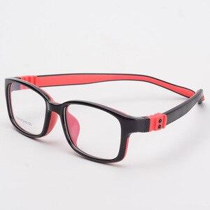 Image 3 - Optical Children Glasses Frame TR90 Silicone Glasses Children Flexible Protective Kids Glasses Diopter Eyeglasses Rubber 7009