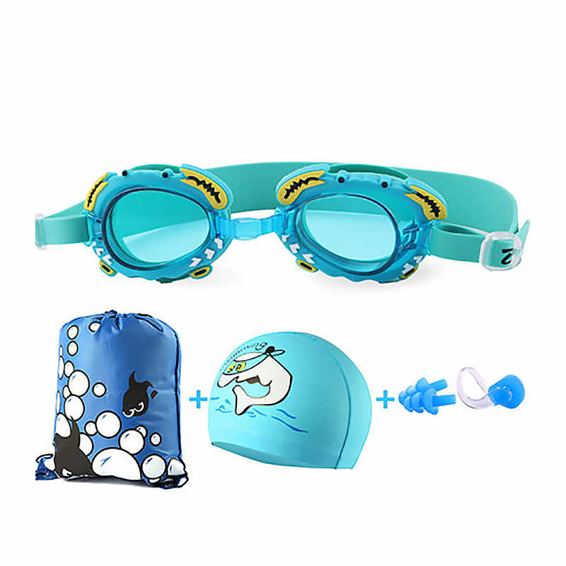85790385363be Portable Baby Swimming Accessories Swimming Goggles Earplugs Beach Bag Swimming  Cap 5pcs/set Girls Boys