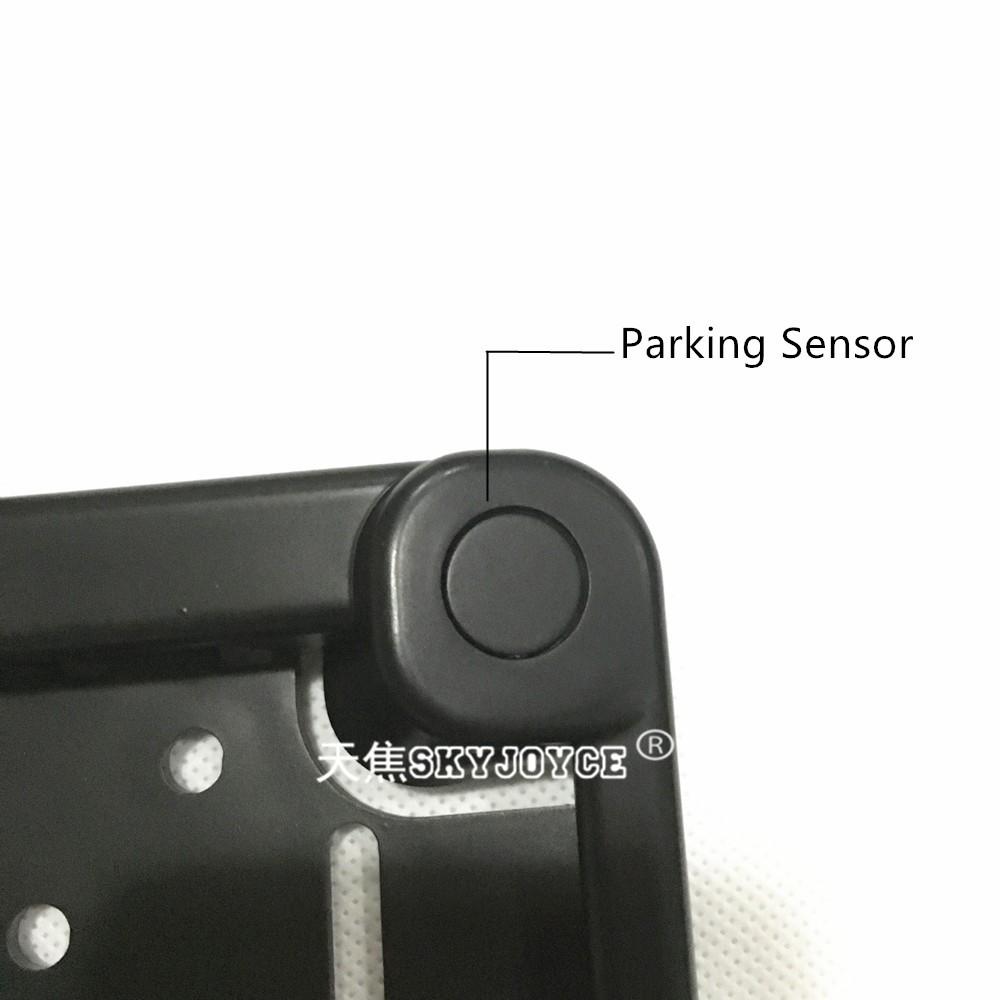 Black camera CCD HD rear view camera set with 2 radar parking sensor EU European license plate camera rear parking camera LED (7)
