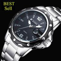 Watches Men Luxury Brand Business Watch Quartz Sport Men Full Steel Wristwatches Dive 30m Casual Clock